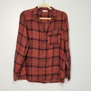 Free People x CP Shades Long Sleeve Plaid Shirt